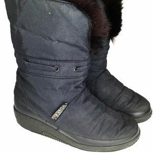 Vintage Tecnica Women Winter Boots Fur Sz 7.5